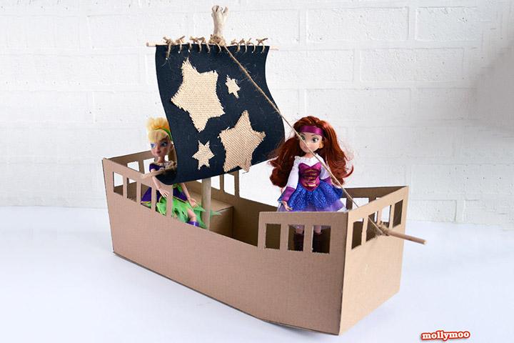Cardboard Box Crafts For Kids - Craft Pirate Ship