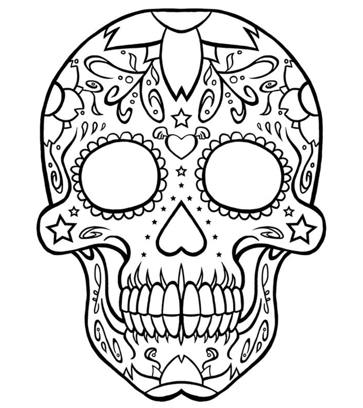 - Top 15 Skull Coloring Pages For Your Little One