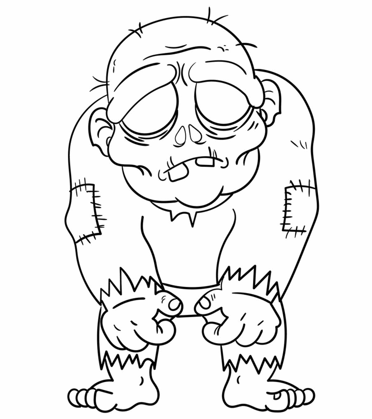 - Top 20 Zombie Coloring Pages For Your Kids