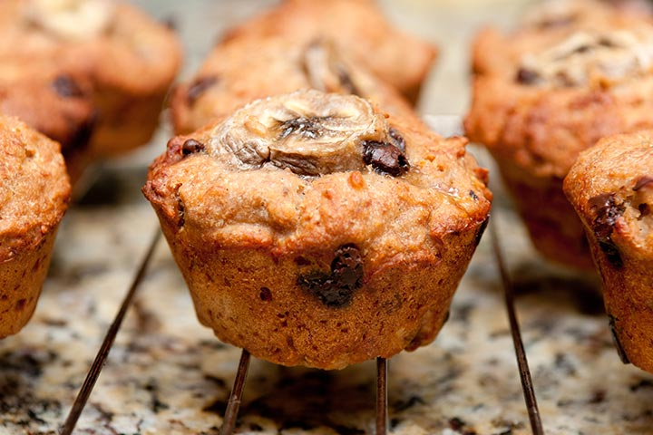 Recipes For Breastfeeding Moms - Chocolate Chip Banana Muffins