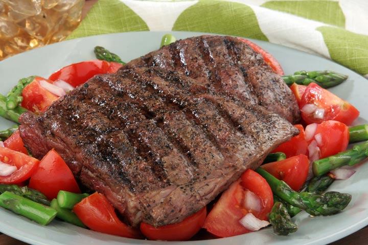 Recipes For Breastfeeding Moms - Flank Steak And Asparagus Salad