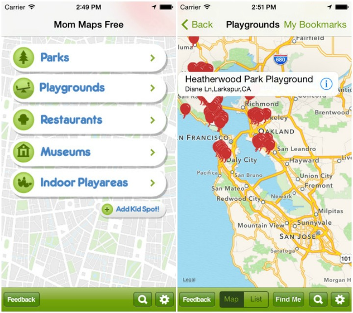 Mom Maps - Best Mom Apps