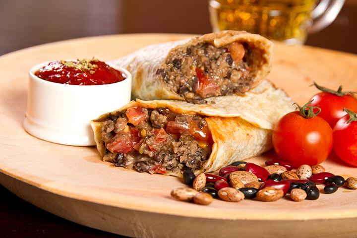 Recipes For Breastfeeding Moms - Turkey And Bean Burrito