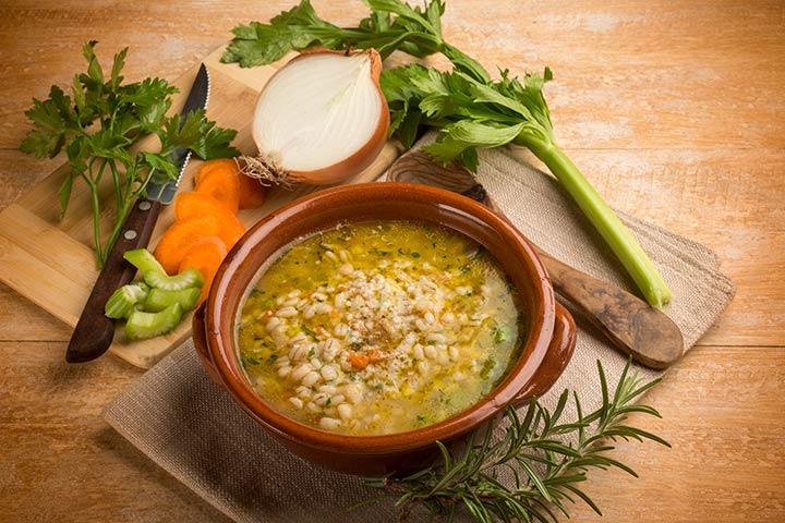 Recipes For Breastfeeding Moms - Vegetable Barley Soup