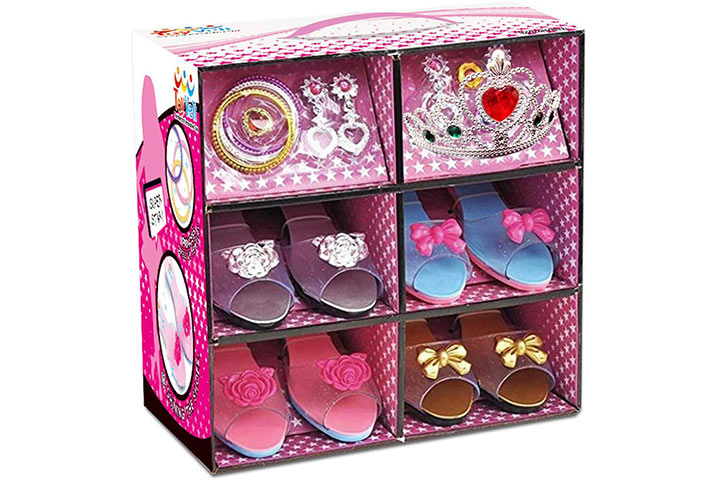ToyVelt Princess Dress Up & Play Shoe And Jewelry Boutique