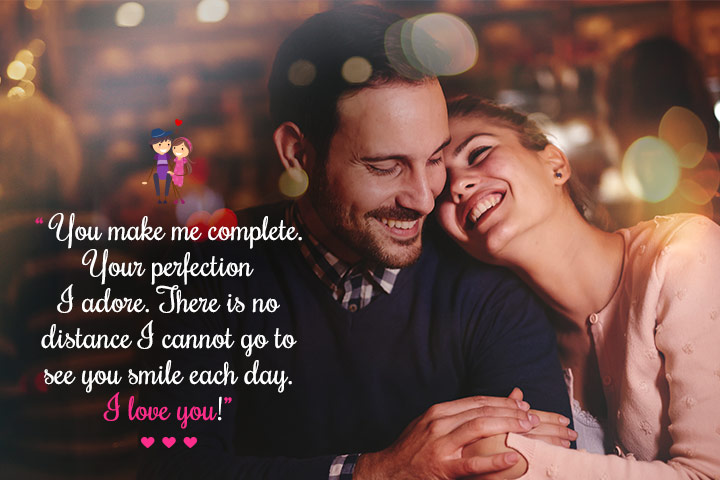 You Make me Complete - Romantic Message for my Wife