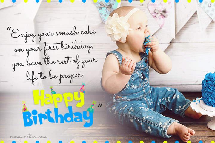 1st Birthday Quotes For Cute Little Daughter