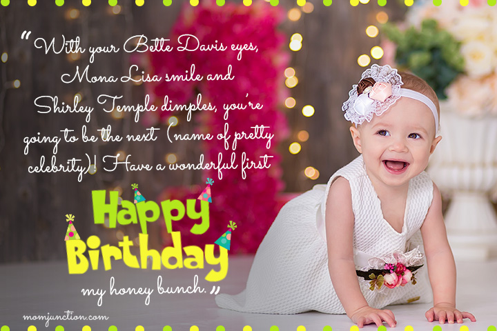 First Birthday Sayings for Daughter