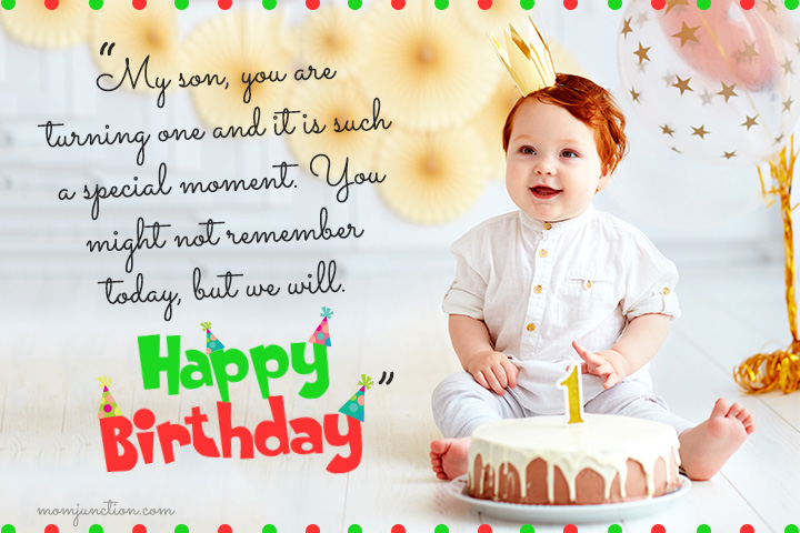 1st Birthday Wishes For Son