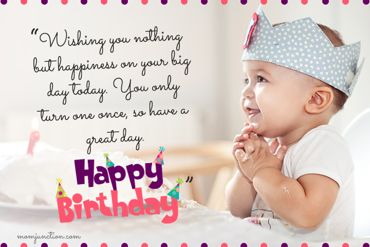 Happy 1st Birthday Message for My Son