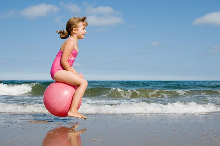 Beach ball race