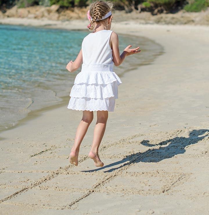 Beach hopscotch