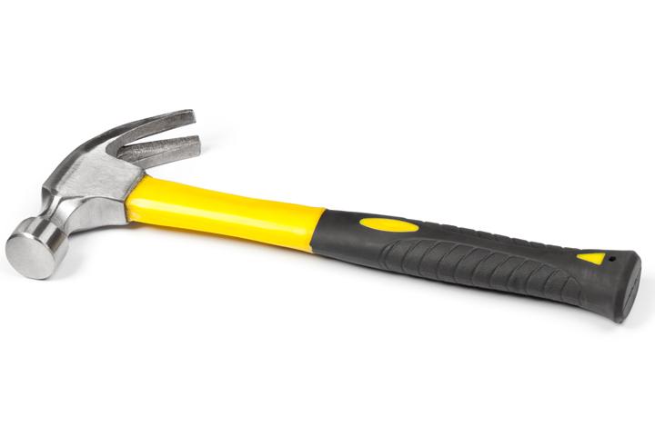 Engraved steel hammer
