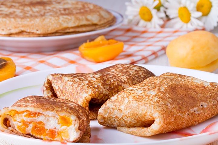 Dry fruits pancake
