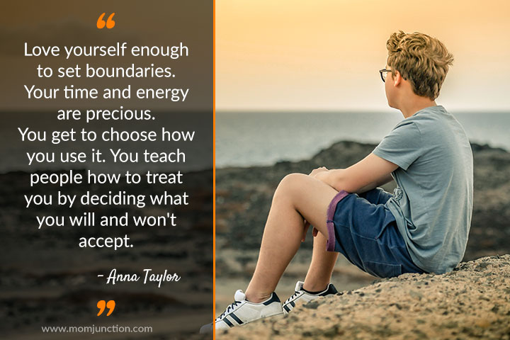 Love yourself enough to set boundaries. Your time and energy are precious.