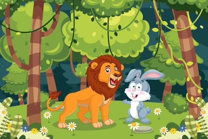 Clever rabbit, lion story