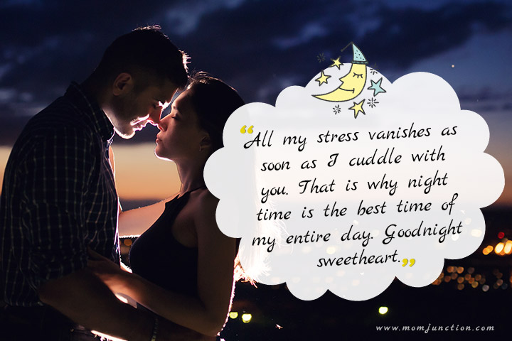 romantic good night message for wife