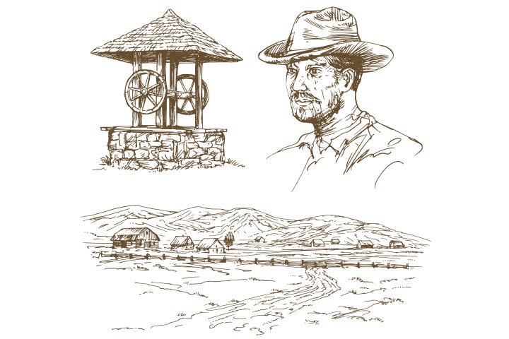 The farmer and well