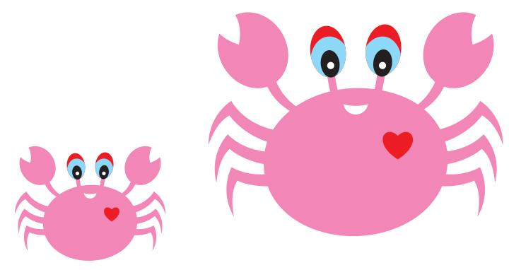 A crab and his mother