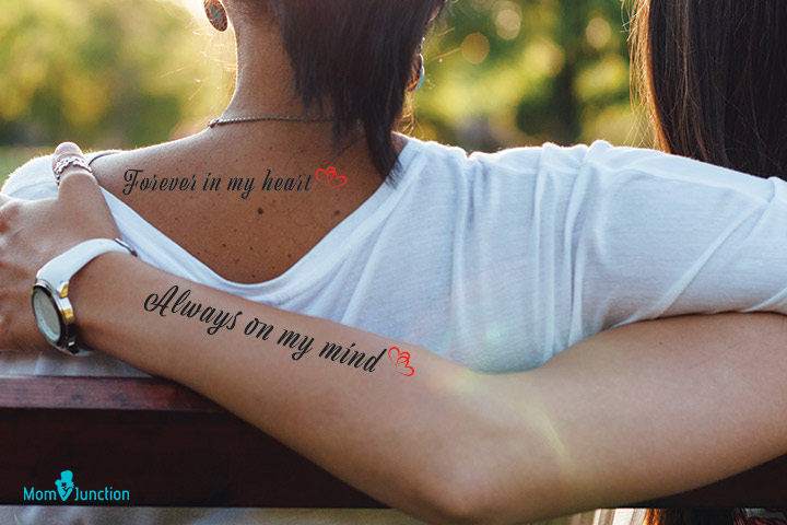 Always On Mind Tattoo Mother Love Towards her Daughter