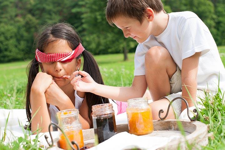 Blindfolded taste test