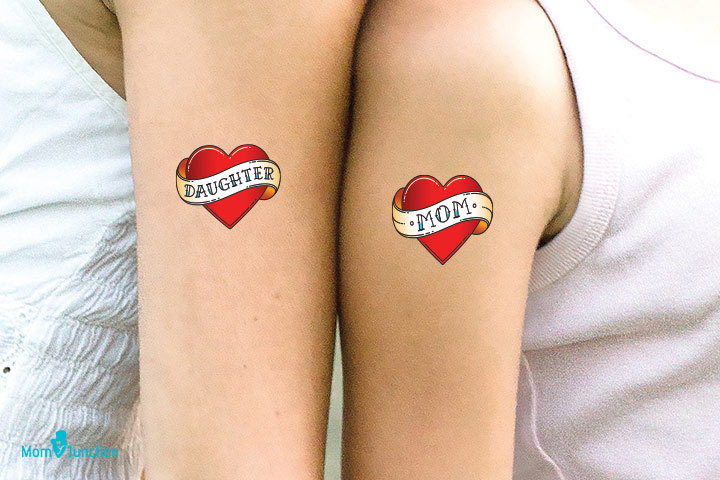 Classic Mother Daughter Tattoo Idea