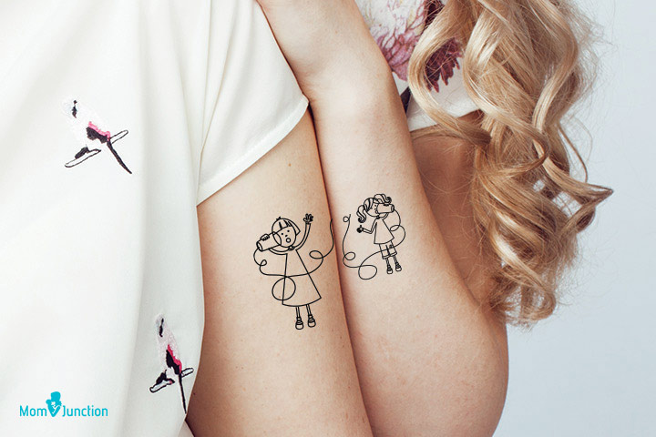 Long Distance Tattoo for Lovely Mom and Daughter