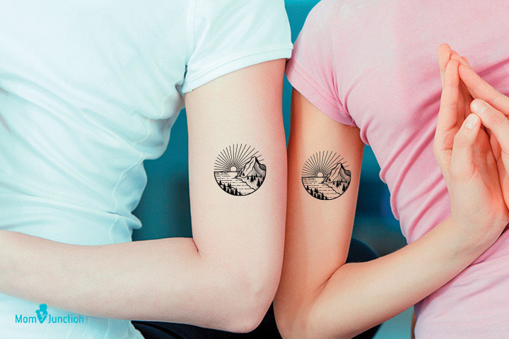 Sweet Memories Tattoo for mom and daugther
