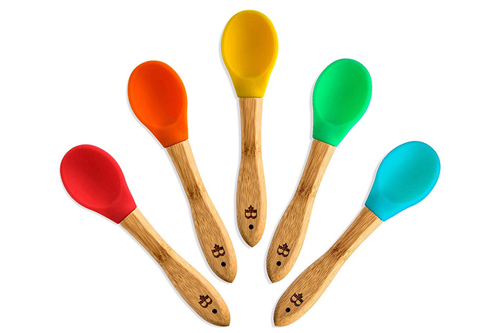 Bamboo Baby Feeding Spoons Set