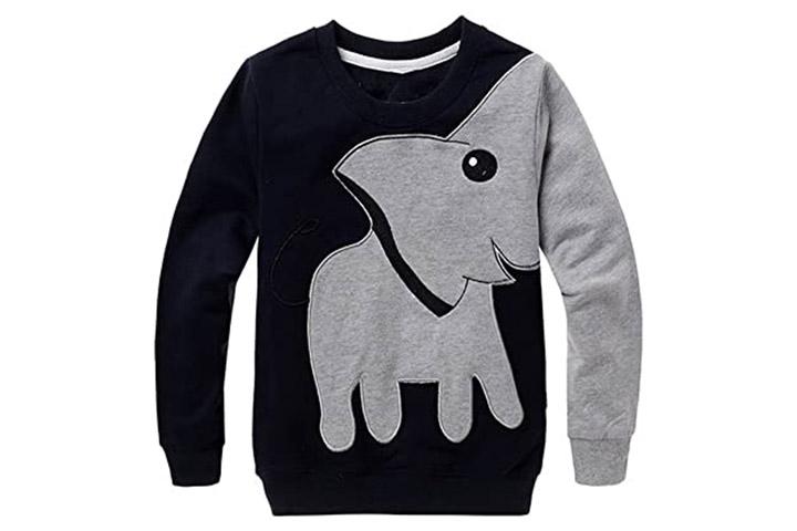 CM-Kid Boys Sweatshirts Elephant Pullover