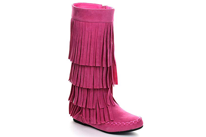 Fringe Moccasin Style Mid-Calf Boots
