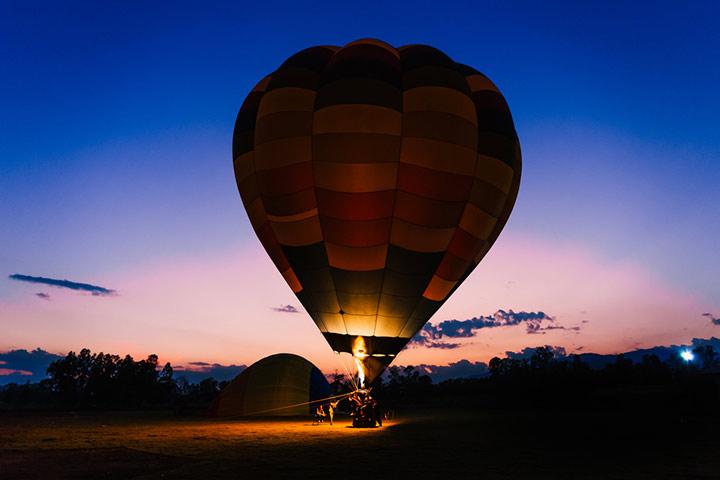 Go on a hot air balloon ride