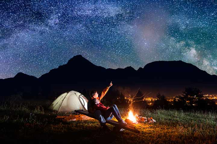 Spend a night by the campfire