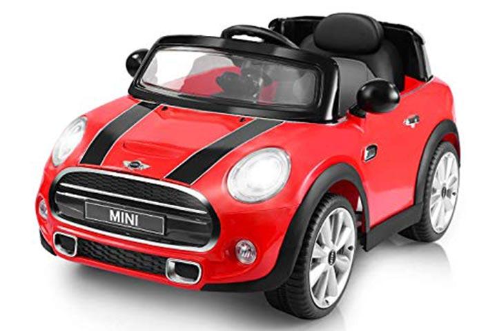 Costzon Ride On Car, Licensed BMW Mini Cooper Electric Car 4.289