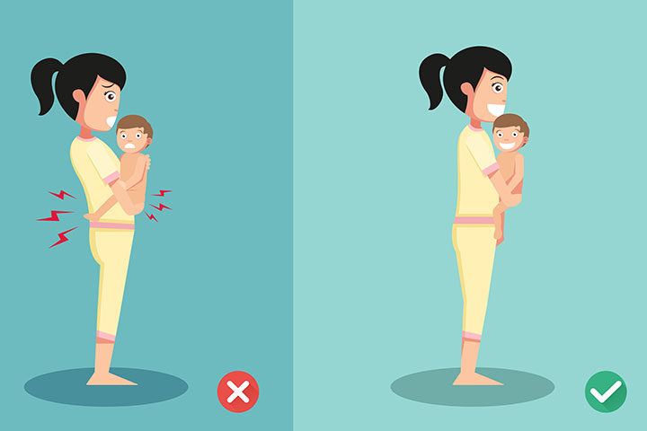 How to hold baby