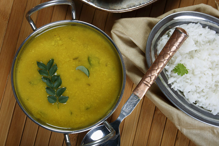 Dal and soup rice