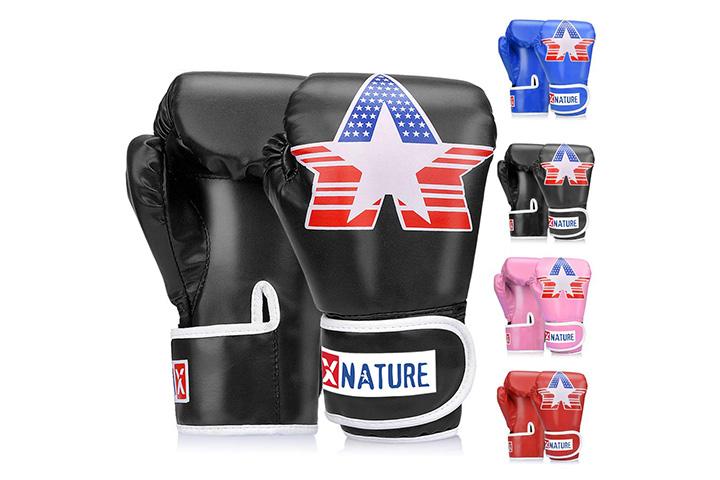 Xnature 4oz 6oz 8oz PU Kids Boxing Gloves