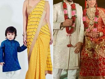 Taimur Ali Khan Steals The Show At His 'Mama' Armaan Jain's Wedding, Poses With Mum, Kareena