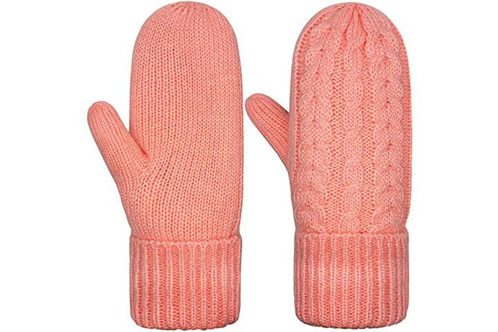 Chanvi Women's Mittens Winter Thick Gloves
