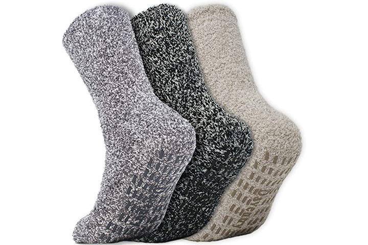 Daventry Ultra Thick Fluffy Grip Socks
