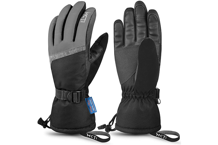 MCTi Ski Gloves, With Wrist Leashes And 3m Thinsulate