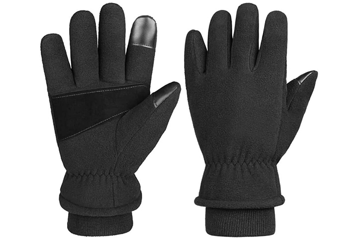 OZERO Winter Gloves -30°F Cold Proof Thermal Glove Warm Fleece Insulated Lamb Wool