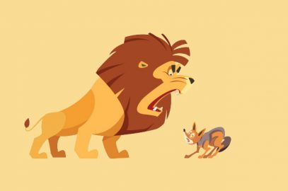 शेर और सियार की कहानी   The Lion And The Jackal Story In Hindi