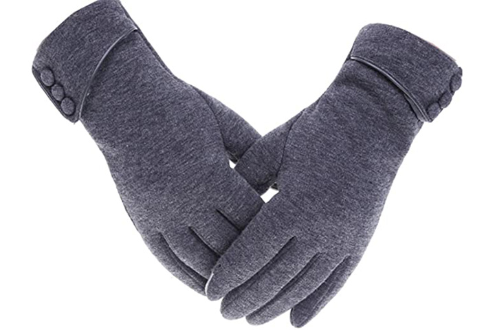 Tomily Women's Touch Screen Phone Fleece Windproof Gloves