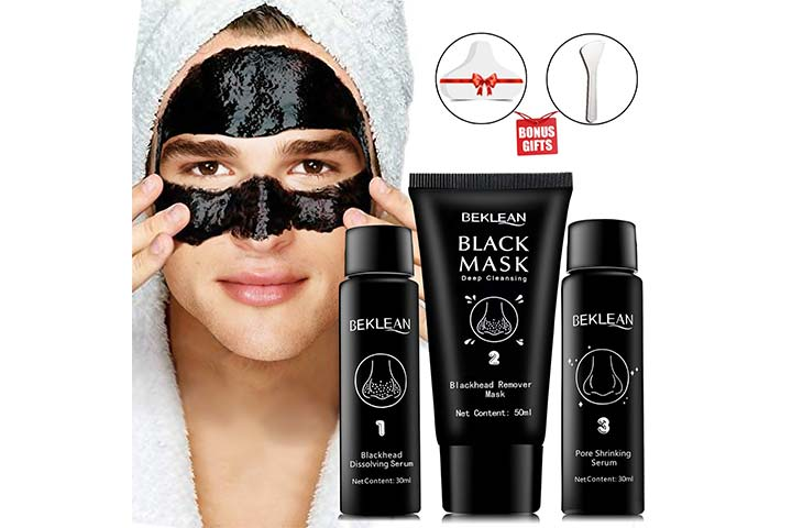 Beklean Black Charcoal Peel Off Mask for Face - Brightening Blackhead Remover