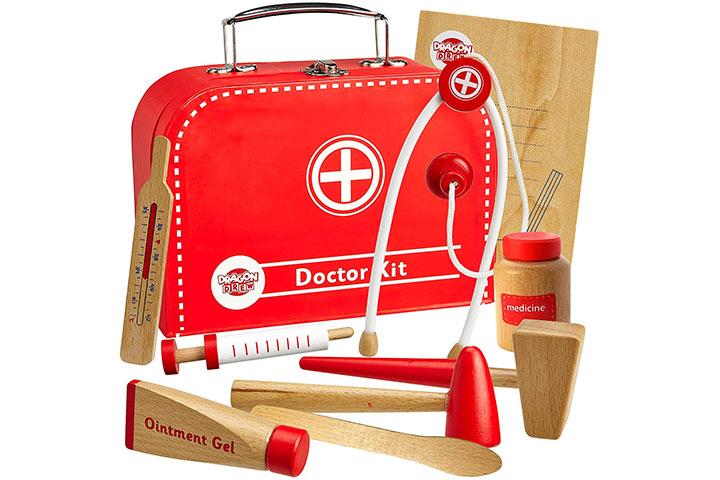 Dragon Drew Wooden Doctor Kit For Kids