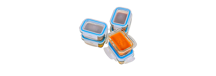 Elacra Glass Baby Food Storage Containers