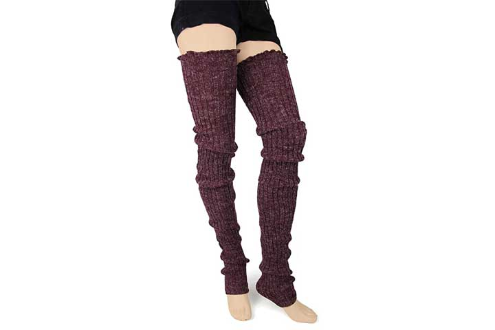 Foot Traffic Cable Knit Leg Warmers For Women