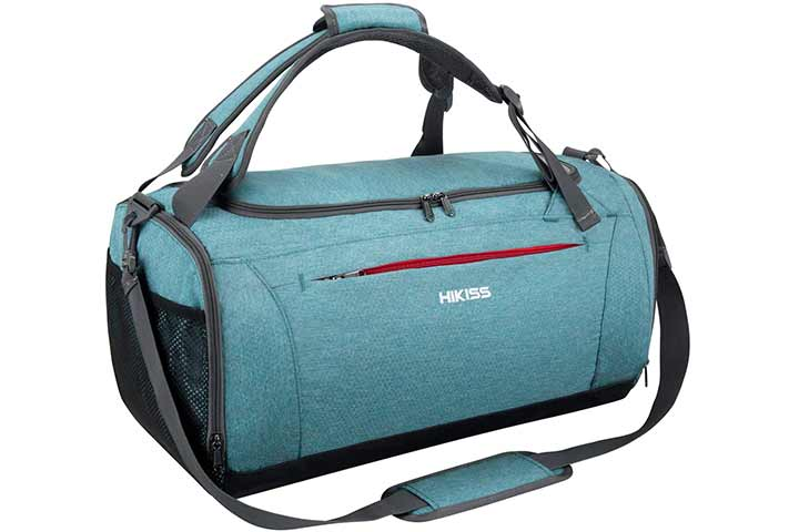 HIKISS Sports Gym Bag Waterproof Duffel Bag 45L