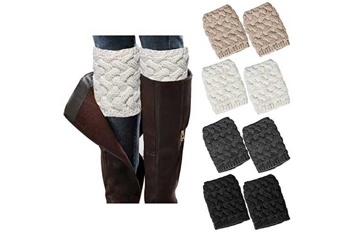 Loritta Womens Crochet Knitted Boot Warmers